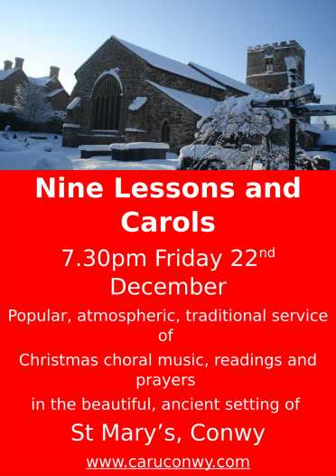 Nine lessons Conwy-1