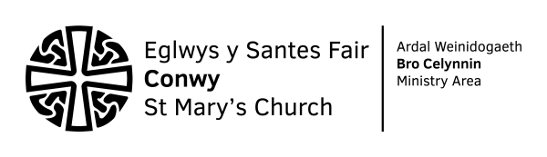 The Diocese of Bangor - St Mary's Church Conwy Logo-BLACK