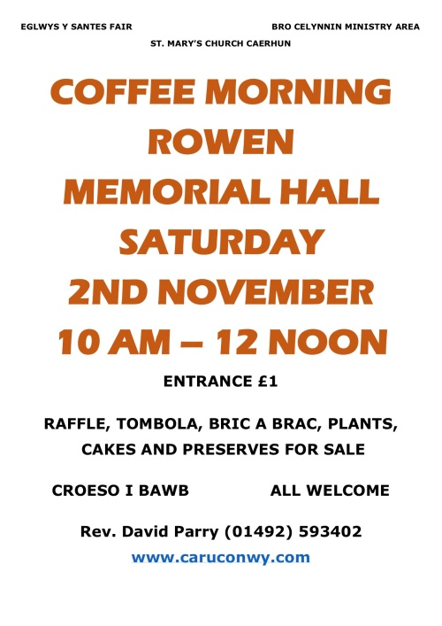 COFFEE MORNING POSTER 02-NOV-19