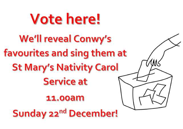 Conwys favourite carol vote 2-1-1