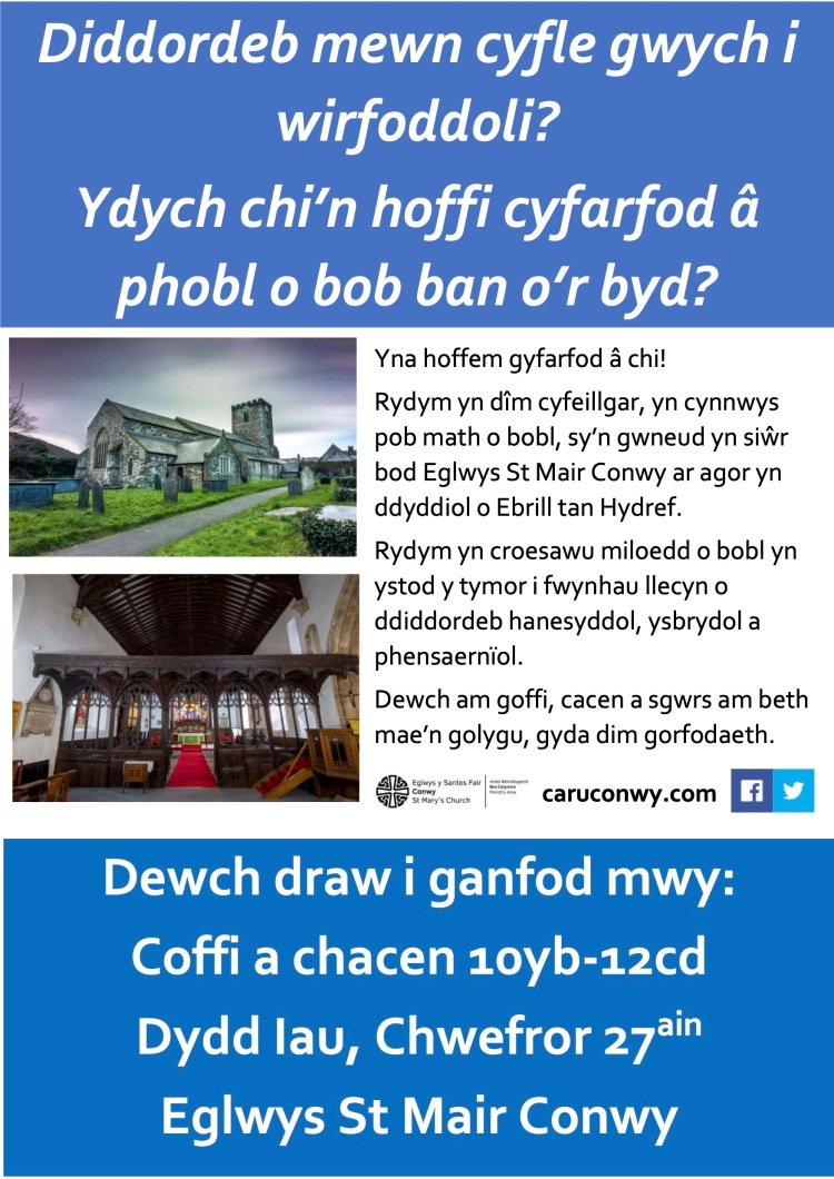 Poster coffee morning WELSH