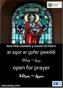 Llanbedr open for prayer
