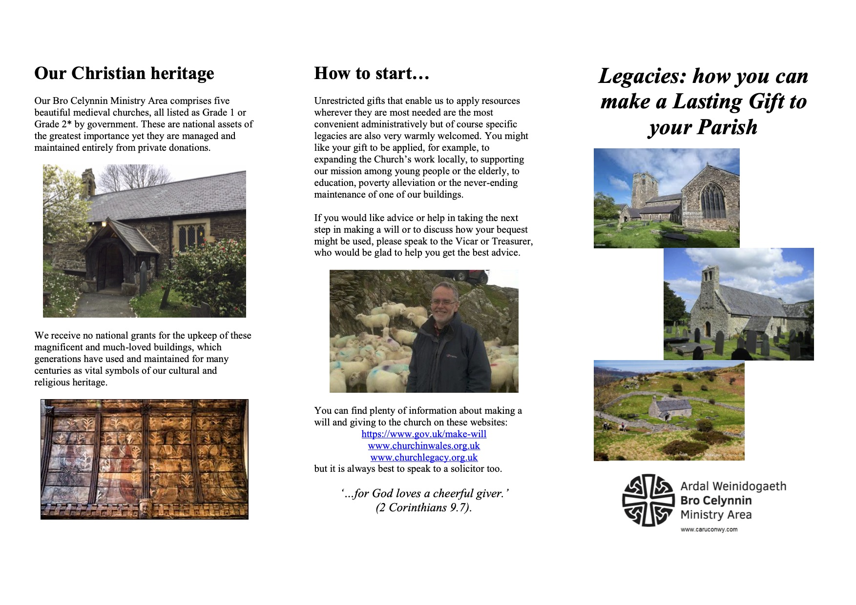 Bro Celynnin Legacy Leaflet (page 1)